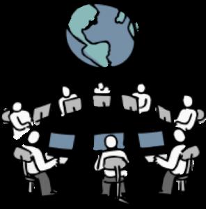world-wide software development - pictofigo