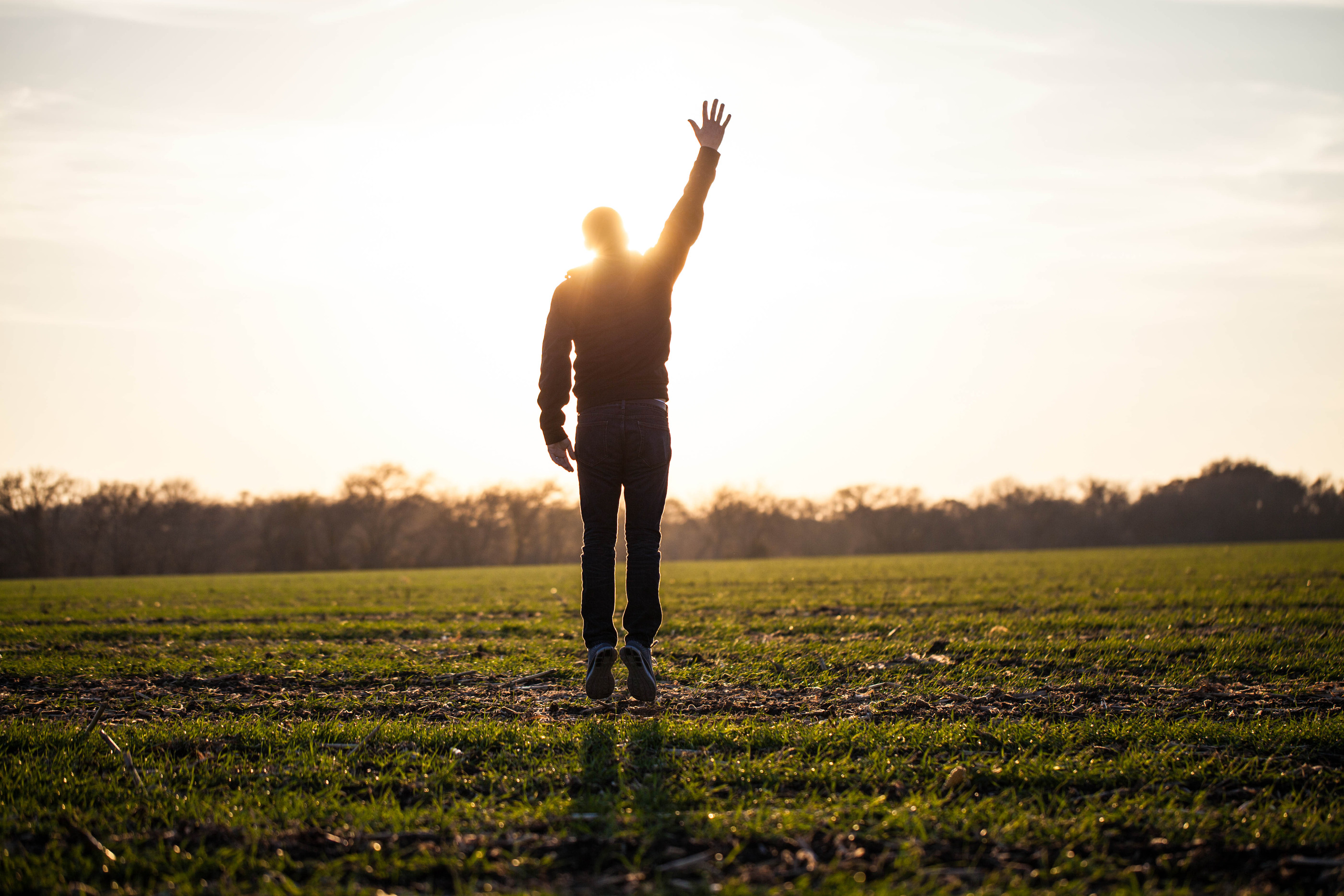 hand raised in field - lightstock_57774_medium_user_1230963